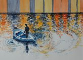 «der Mann und das Boot»